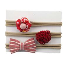 3pcs/1set Kid Girls Elastic Floral Headband Hair Baby Bowknot Hairband Headdress a