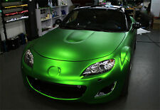 SATIN CHROME GREEN VINYL WRAP ROLL CAR VEHICLE WRAP 1.52M x 1M
