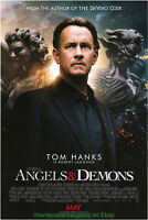 ANGELS AND DEMONS MOVIE POSTER Original DS 27x40 International Version TOM HANKS
