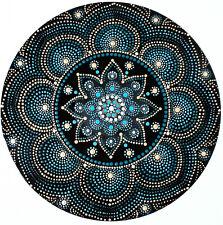 disc-mandala 20 / vinyl record mandala art handmade painting