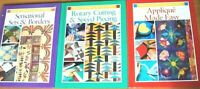 3 x Rodale's Successful Quilting - Sets & Borders/Rotary Cutting/Applique