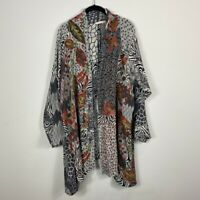 Soft Surroundings 1X Saint Savin Cardigan Floral Art To Wear Sweater Jacket