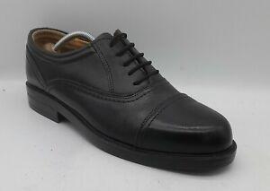 Men's ST BERNARD Size 8 UK 42 EU Black Leather Oxford Dress Shoes Laced In E U C