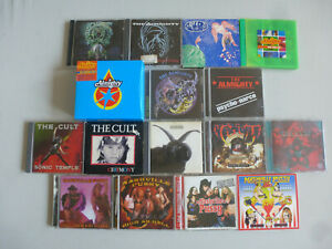 """CD-PAKET """"17 x THE ALMIGHTY CULT PUSSY"""" Konvolut Bundle The Almighty The Cult"""