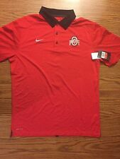 NWT Nike Dri-fit Polo Men's Large Ohio State Buckeyes Football Golf Basketball