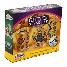 GLITTER GLASS - COLOURFUL SAND ART FUN CRATIVE CRAFT KIT FOR KIDS dd
