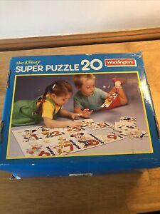 Vintage Jigsaw Puzzle Complete Disney Waddingtons Super Puzzle 20 Unopened 1990