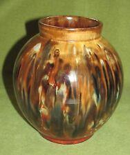 Jugendstil Keramik Vase ?Bunzlau? Pressmarke interessante Glasur