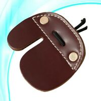 Leather Protective Recurve Finger Tabs Bow Archery Hunting Finger Guard