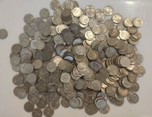 U.S. Silver Dimes unsorted in Jar Auction