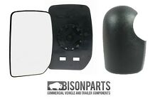 *FORD TRANSIT MK7 WING DOOR MIRROR GLASS & COVER DRIVERS SIDE - UT7713RC/UT6713R