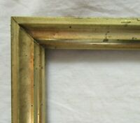 "ANTIQUE FITS 8.1"" X 10.1"" LEMON GOLD GILT WOOD PICTURE FRAME FINE ART VICTORIAN"
