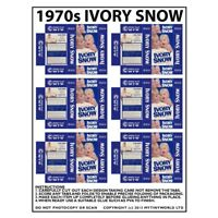 Dolls House Miniature Sheet Of 6 1970s Ivory Snow Boxes