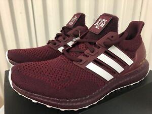 Adidas Ultraboost 1.0 NCAA Football TEXAS A&M AGGIES Maroon Red 14 FY5810 Gig'em