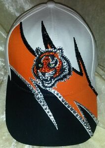 Cincinnati Bengals Women's Rhinestone Ultra Bling NFL Cap Hat ~NEW~