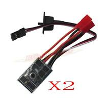 2x RC ESC 10A Brushed Motor Speed Controller 1/16-24 for Car Boat Tank W/Brake