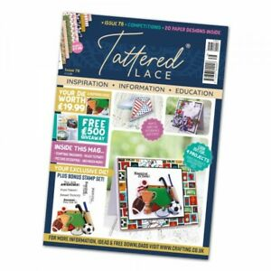Tattered lace magazine, cards for men + papers, stamps,  great value