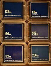 Memory Partner CF Memory Card 32MB, 64MB, 128MB, 256MB, 512MB, 1GB (Lots of 2)