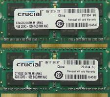 RAM 8gb KIT ddr3 pc3-8500, 1067mhz per la fine del 2008/2009 e Mid 2010 MacBook'S