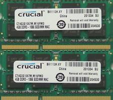 Ram 8gb Kit Ddr3 Pc3-8500, 1067 MHz para finales de 2008/2009 y Mid 2010 Macbook Pro