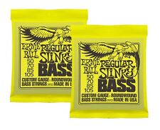 2 x Packs - ERNIE BALL SLINKY ELECTRIC BASS GUITAR STRINGS - REGULAR (50 - 105)