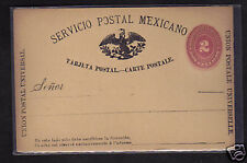 Mexico 2c Postal Stationery Postcard 1880's