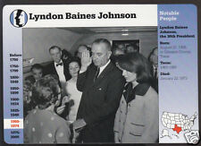 LYNDON BAINES JOHNSON Oath JFK Assassination Jacqueline Kennedy Photo STORY CARD