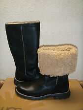 UGG BROOKS BLACK TALL FULL SHEARLING LINED BOOT US 7 / EU 38 / UK 5.5 - NEW