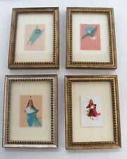 Native American baby Eagle 4 small original framed paintings Roberta Whiteshield