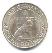 REPUBLICA DEL PARAGUAY 300 GUARANIES 1968 ARGENTO