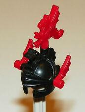 LEGO Castle - Minifig, Headgear Helmet w/ Dragon Crown Top & Red Plumes - Black