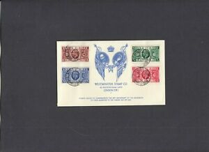 1935 Silver Jubilee Forgery of Westminster Stamp Co FDC. (Genuine Cat £600)