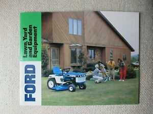 Ford New Holland LT LGT YT R lawn garden tractor and equipment catalog brochure