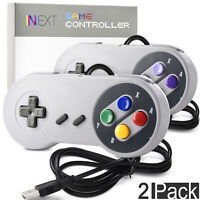 2 Pack Retro Super SNES USB Classic Controller Gamepad PC MAC Linux Raspberry Pi