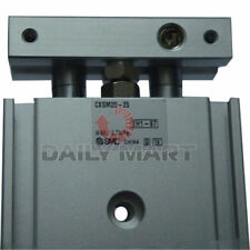 New Smc Cxsm20-25 Dual Rod Compact Cylinder Double Acting Magnetic 25mm Stroke