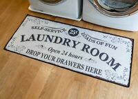 "Grip-Back Woven Printed Rug, Laundry Room Mat Runner - Laundry Room 24"" x 56"""