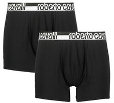 ROBERTO CAVALLI Black Logo Boxer Short Set, S - W32, Pack of 2