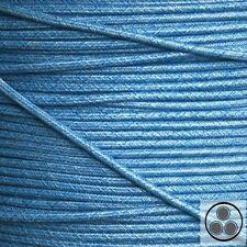 Cable textil tejido cable lámparas-cable cable de alimentación cables eléctricos retro azul 3 conductores