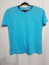 Ladies Teal Blue T-Shirt Top Size 22 Harts Sequins Cotton Short Sleeve Summer