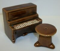 Vintage Piano with Stool Salt and Pepper Shaker Go With Set