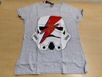 Womens Official T Shirt Geek David Bowie Stormtrooper Glam Lightning bolt S G