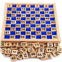 Montessori Hundred Box 1-100 Consecutive Numbers Counting, Kids Wooden Toy Math