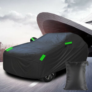 Universal All Weather Car Cover Rain/UV/Dust Resistant XL Reflective Waterproof