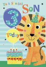 Per un figlio SPECIALE 3rd 3 oggi LION Palloncino & Cake Design Happy Birthday Card