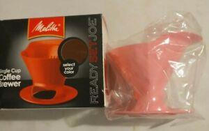 PINK! Melitta ReadySetJoe Single Cup Coffee Brewer Good Condition