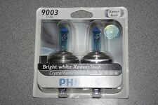 Philips Crystal Vision Pair of Headlight Bulbs 9003 CVB2 Xenon Look H4 NEW