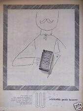 PUBLICITÉ 1957 LU VÉRITABLE PETIT BEURRE - ADVERTISING
