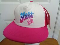 Pink Snap Back Mesh Trucker Hat Blast Colt 45 One Size NWT