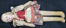 Vintage 1930's Paper-Mache & Hand Made Cloth Swish Girl Doll Nice 12� Tall