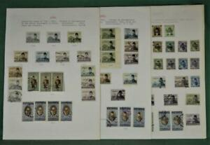 EGYPT STAMPS SELECTION ON 6 ALBUM PAGES  (R136)